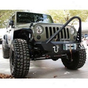 Lkd Shorty Front Bumper With Stinger, Texture Black