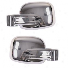 Mirror Covers Chrome Pair