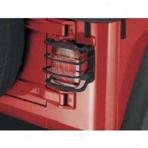 Mopar Jeep Logo Tail Lamp Guards, Black