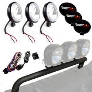 Off Road Fog Light Kit With Bumper Mounted Light Rod & 100w Slim Halogen Lights (10  iPeces)