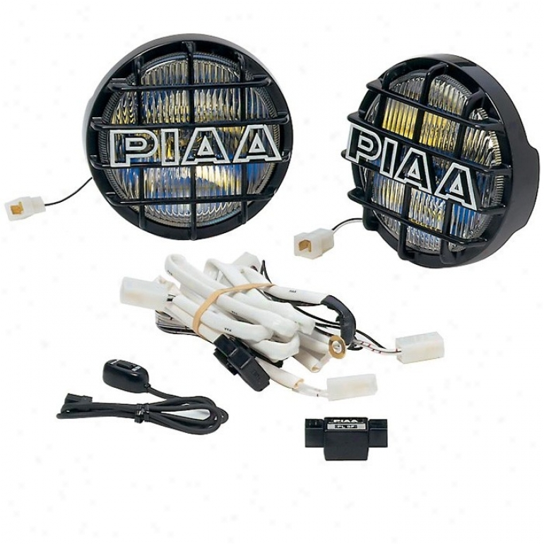 """piaa, 520 Series Ion Crystal Driving Light Kit, 85-w, Black (6-1/4"""" Diameter)"""
