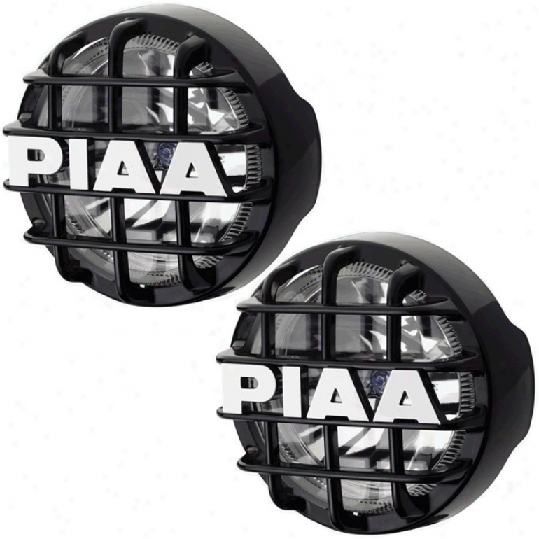 """piaa, 520 Series, Ion Crystal Fog Light Kit, 85-w, Black (6-1/4"""" Diameter)"""