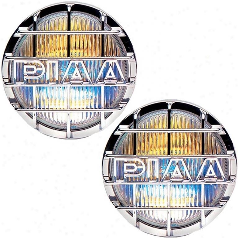 """piaa, 520 Series, Ion Crystal Haze Light Kit, 85-w, Chrome (6-1/4"""" Diameter)"""