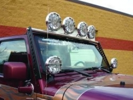 Realwheels, Light Bar (includes Tabs For 4 Lights,) Staknlees Steel