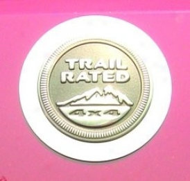 Reslwheels Trail Rated Logo Encircle, Stainless Steel