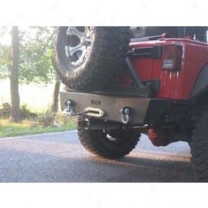 River Raider Rear Bumper - Rock Crawler W/tire Carrier, Bare Steel