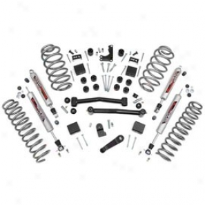 """rough Country 4"""" Suspension Rise Kit, Performance 2.2 Shock"""