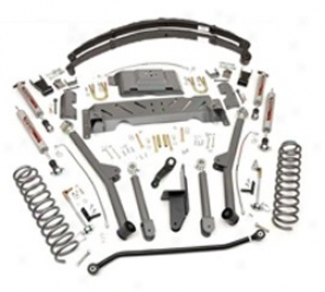 """""""rough Country 4.5"""""""" X-series Long Arm Suspension Lift Kit W/rear Leaf Springs"""""""