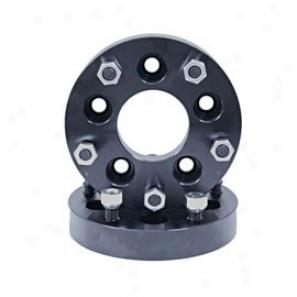 """rugged Ridge 1.25"""" Wheel Adapter Kit, Black, Converts 5 On 4.5 To 5 On 5.5 Bolt Patten"""