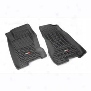 Tempestuous Ridge All Terrain Floor Liners, Front Pair, Black