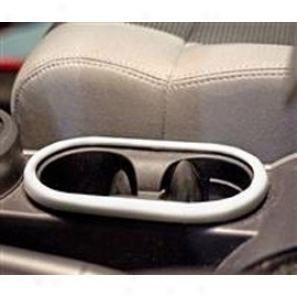 Rugged Ridge Front Cup Holder Accent Silver
