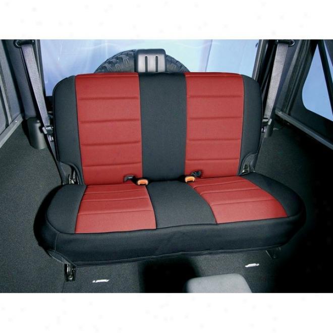Rugged Ridge Neoprene Seat Cover (blk/red) Rear