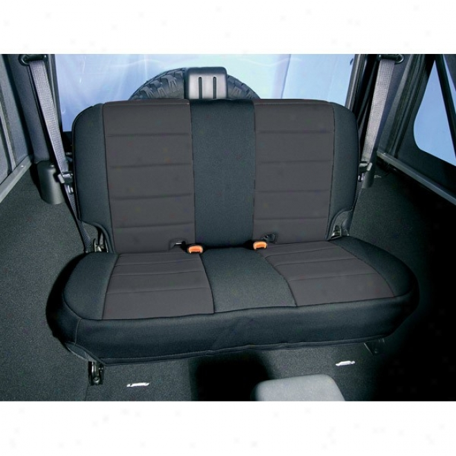 Rugged Ridge Neoprene Seat Cover Rear (blk/blk)