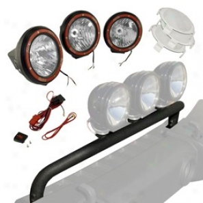 Rugged Ridge - Off Roadstead Hid Fog Light Kit With Front Mounted Bumber - Lignt Bar (10 Piece Set)