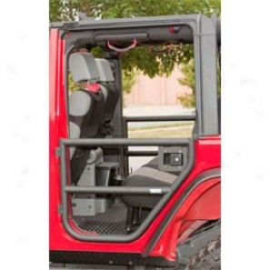Rugged Ridge Rear Pipe Doors,-Textured Black (pair)