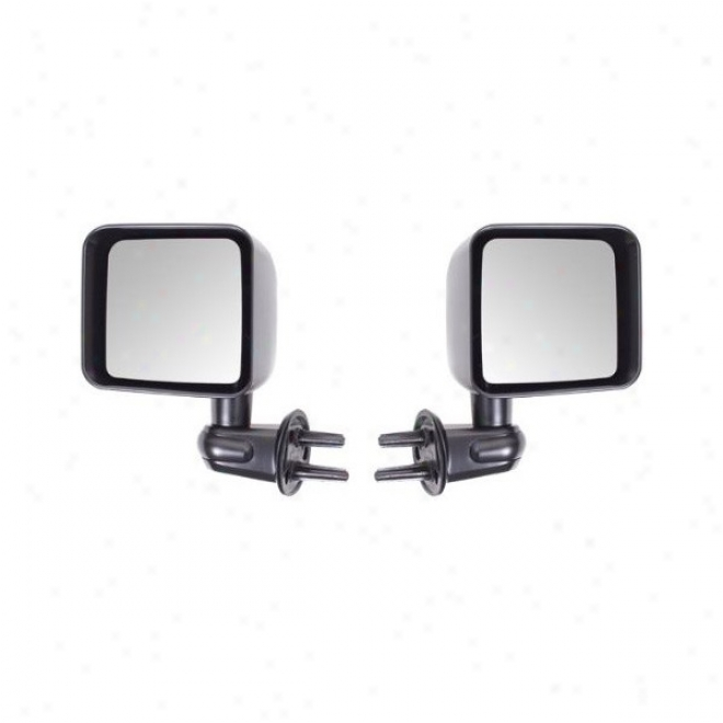 Rugged Ridge, Side View Mirror sKit, Black, (pair)