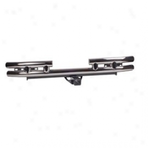 Rugged Ridge Tubular Rear Bumper With Hitch Stainlesa Steel