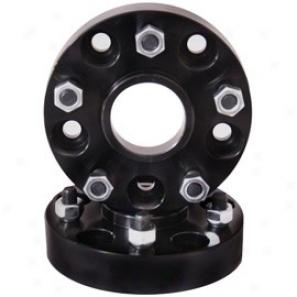 Rugged Ridge Wheel Adaptor Pair, Black, 5 Forward 4.5 To 5 On 5.5 Bolt Pattern, 1.375 Inch Thick