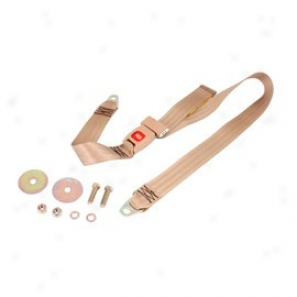 Seat Belt 60-inch, Lap Belt, Tan, (front Or Rear)
