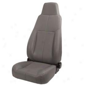 Seat, Front Recliming Seat W/head Rest Grey Vinyl