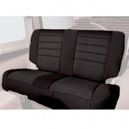 Smittybilt Neoprene Rear Seat Cover Black