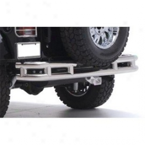 Smittybilt Tubular Rear Bumper With Hitch Stainless Carburet of iron
