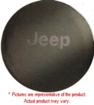 Spare Tire Cover, Dlx Anti-theft Black Denim (silver Logo)