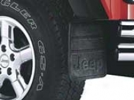 Splash Guard, Front Hd Rhbber Black W/ Jeep Logo Pair