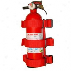 Sports Bar Fire Extinguisher Holder, Red