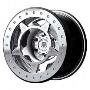 """spyderlock Wheels 756 15x9, 5 Lug, 5x5.5"""" Machined Finish"""