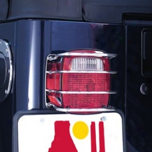 Taillight Guard, Rear Euro Stainless Steel