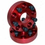Allot Usa Wheel Adaptor Pair, Red, 5 On 4.5 To 5 On 5.5 Bolt Pattern, 1.25 Inch Thick