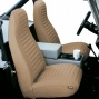 Bestop Seat Cover Hi Back Bucket Pair Tan