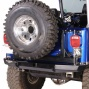 Hanson Offroad Rear Spindle Bumper Withtire Carrier & Mounting Bracket Kit,  Powder Coated Black