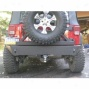 River Raider Rear Bumper - Trail Seriess W/tire Carrer, Bare Steel