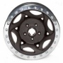"""wakler Evans 17x8.5"""" Beadlock Racing Move on ~s Wrinkled Black - 5x5.5 Bolt Pattern Back Spacing 4.75"""""""