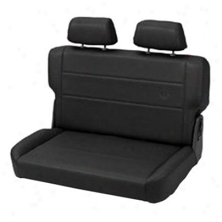 Trailmax Ii Plait & Disturb Rear Bench Seat Vinyl  Black