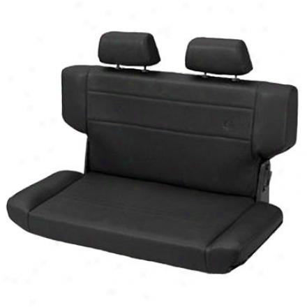 Trailmax Ii Fold & Tumble Rear Bench Seat Vinyl Blaack