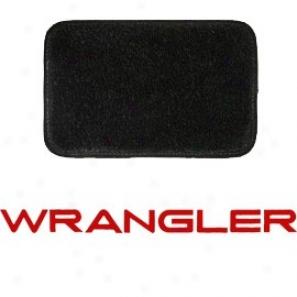 Ultimat Floor Mats 4 Piece Set* Black With Red Wrangler Logo