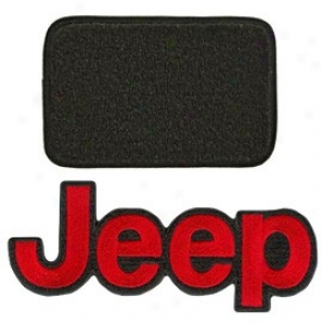 Ultimat Floor Mats 4 Piece Set* H Graphite With Red Jeep Logo