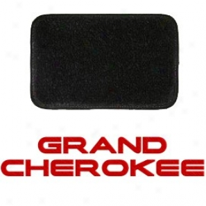 Ulrimat Floor Mats Front Pair Black With Red Grand Cherokee Logo
