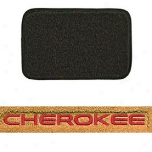 Ultimat Floor Mats Front Pair H Graphite With Red Cherokee Logo