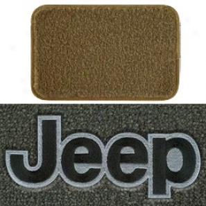 Ultimat Floor Mats Front Pair Tan With Black Jeep Logo