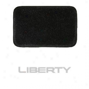 Ultimat Rear Cargo Mat Black Wiyh Silver Liberty Logo Without Driver's Left Add a ~ of  Rest