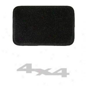 Ultimatt Rear Small Cargo Mat Black With Silver 4x4 Logo