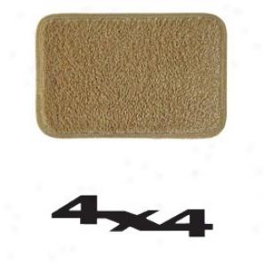 Ultimat Rear Standard Cargo Mat Antelope Through  Black 4x4 Logo