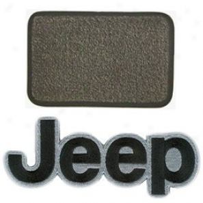 Ultimat Rear Standard Cargo Mat Sand Grey Upon Black Jeep Logo