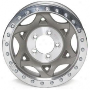 """walkre Evans 15x8"""" Beadlock Racing Wheel Non-polished - 5x4.5 Bolt Pattern Back Spacing 4.5"""""""