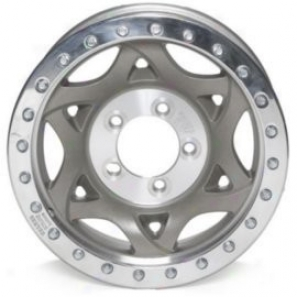 """walker Evans 15x8"""" Beadlock Racing Wheel Non-polished - 5x4.5 Bolt Pattern Back Spacing 5"""""""