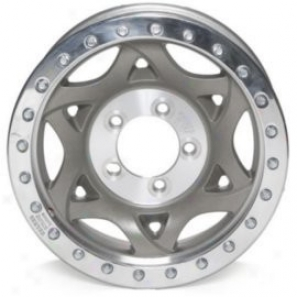 """walker Evans 15x8"""" Beadlock Racing Wheel Non-polished - 5x5 Botk Figure Back Spacing 4.5"""""""